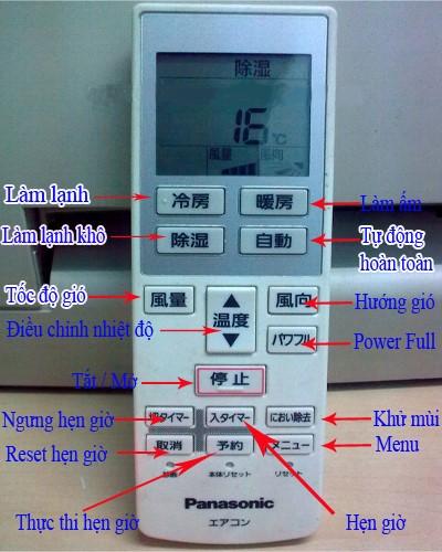 hướng dẫn sử dụng remote máy lạnh tiếng nhật